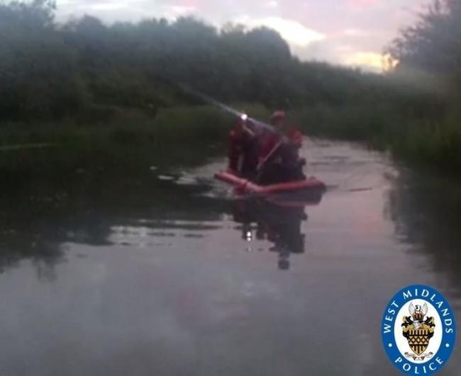 The man was found on an island in the Donkey Pools. Photo: West Midlands Police.