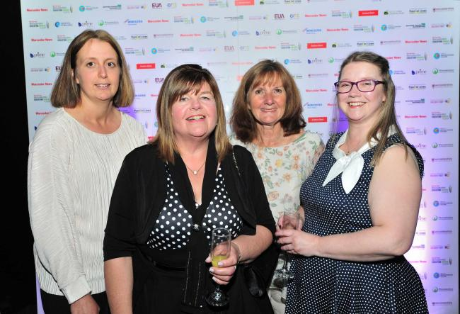 Staff from Hollymount School at the Worcester News Worcestershire Education Awards 2019, held at the University of Worcester Arena. Pic Jonathan Barry 20.6.19.