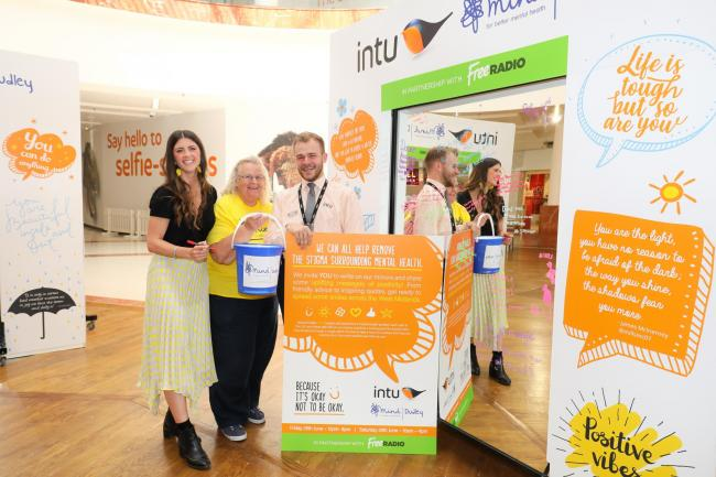 Intu Merry Hill have teamed up with Dudley Mind to improve the mental health of shoppers. Picture by Shaun Fellows / Shine Pix Ltd.