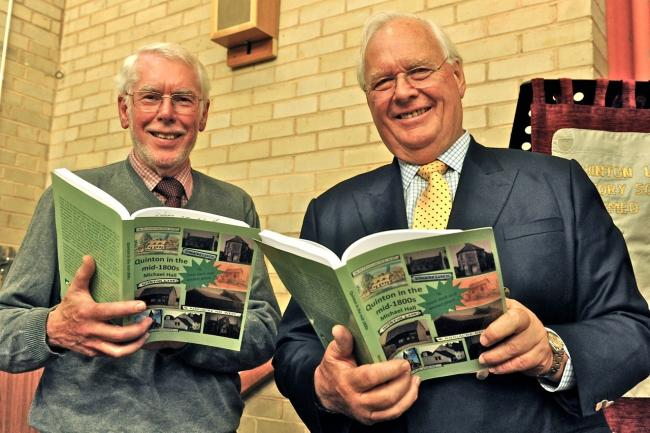 Dr Michael Hall and Viscount Cobham at the book launch. Pic Graham Beckley.