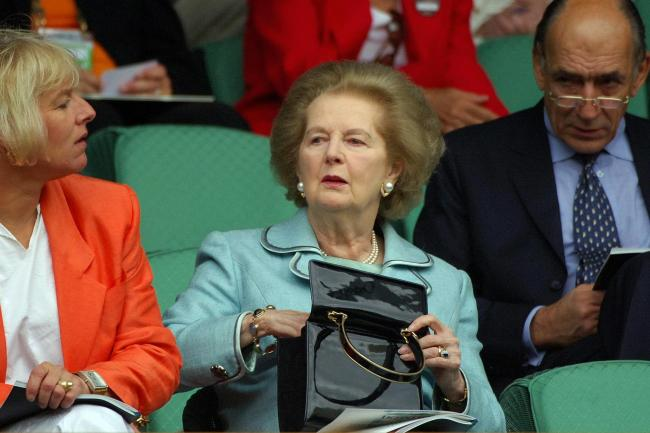 Baroness Thatcher at Wimbledon