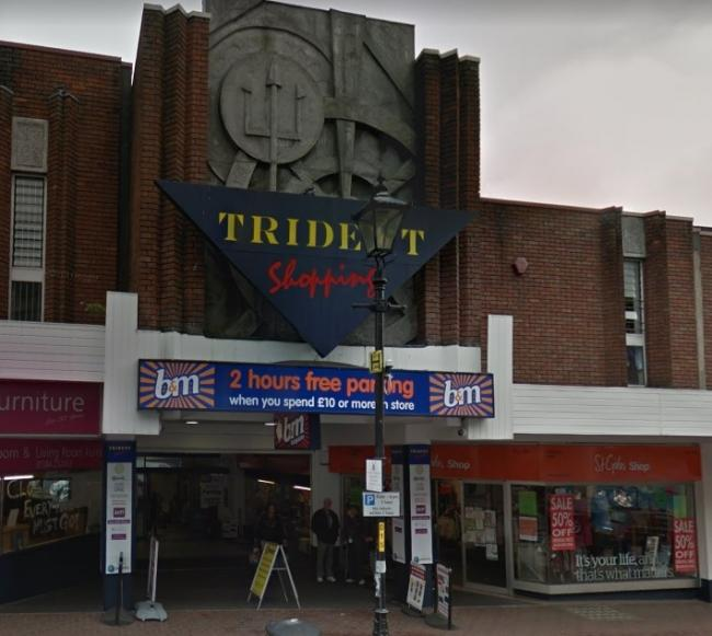 The incident happened in the B&M store in the Trident Centre. Image: Google Maps.