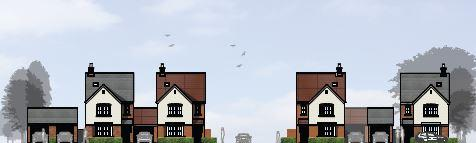 Halesowen News: Impression of the street scene. Image courtesy of Persimmon Homes