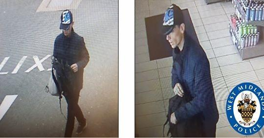 Do you recognise this man? PIc: West Mids Police.