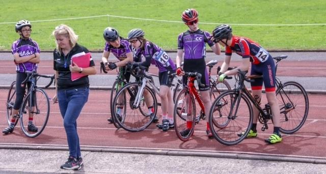 Young riders prepare for action at Halesowen Cycling Club's Free Wheeler Fun Day