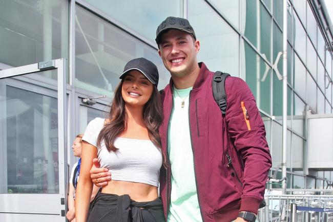 Love Island contestants Maura Higgins and Curtis Pritchard