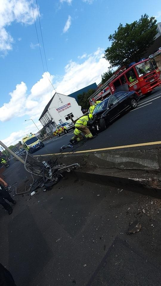 The crash took place on Dudley Road in Halesowen. Photo: Shaz Saleem