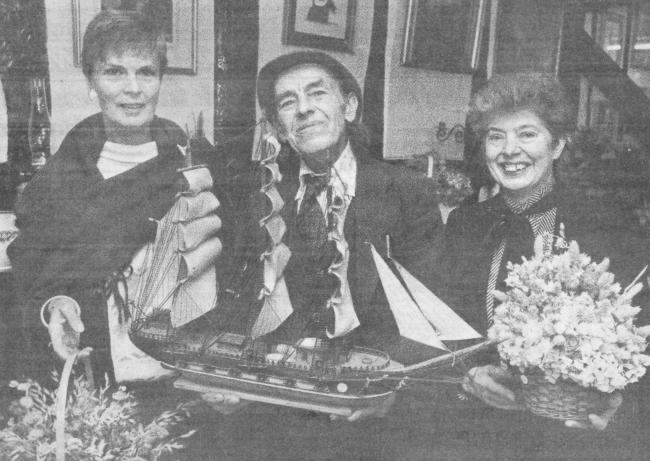 TODAY'S picture from the archive of the Worcester News dates back to November 1988 when Geoffrey Freegard (centre), well known in the county as an enthusiast of horse-drawn vehicles, helped launch the Little Acorn antique shop at Clifton-on-Teme by bu