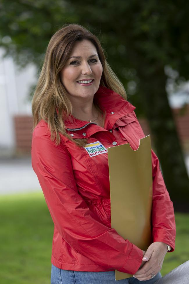 OVER THE MOON: People's Postcode Lottery ambassador Judie McCourt
