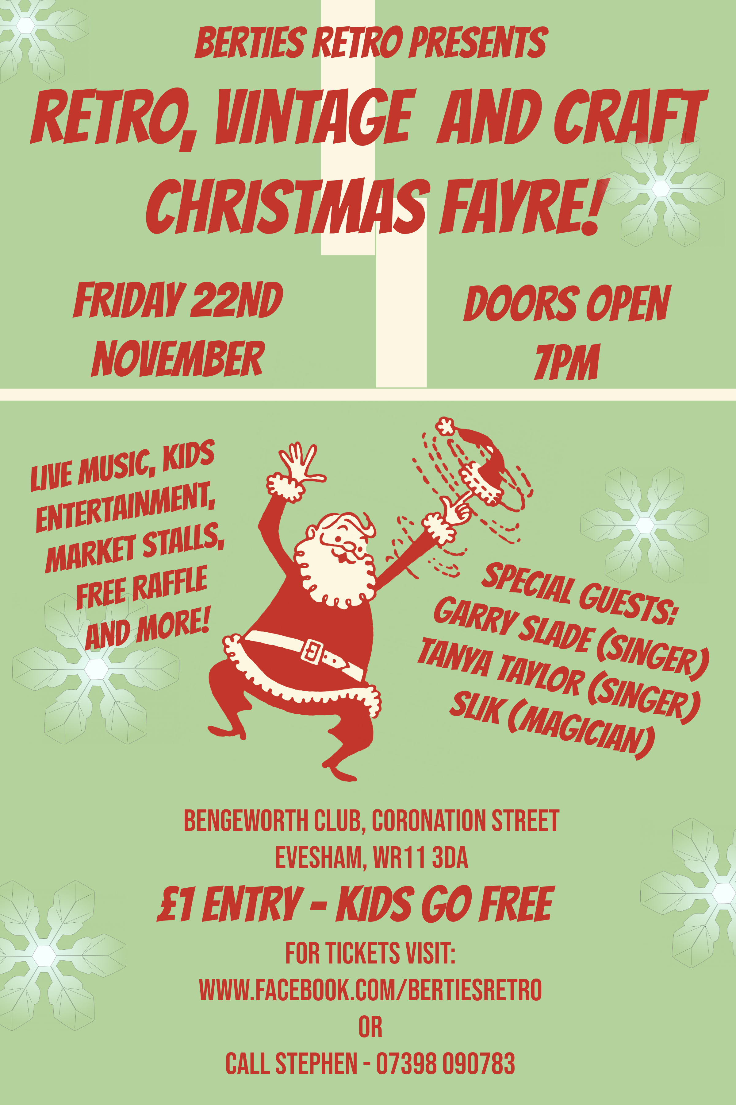 Berties Retro, Vintage and Crafts Christmas Fayre