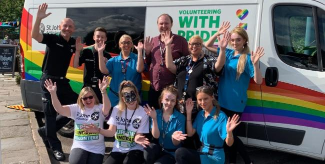 Staff and members of St John's Ambulance at the Meadowlark Fun Day.