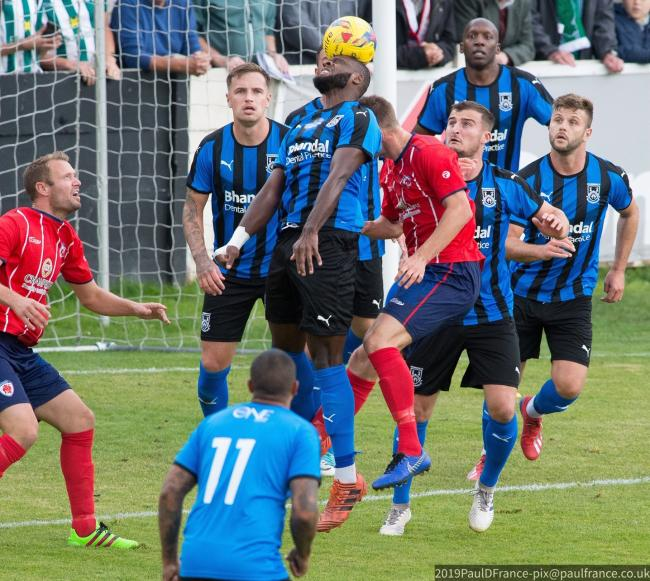 Stour overcame a late Bromsgrove bombardment to pick up the win. Photo by Paul France