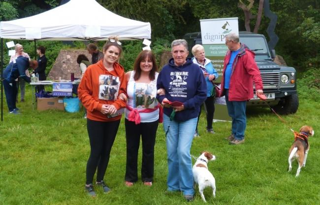 People gather at Baggeridge Country Park for the Dignipets Memorial Walk