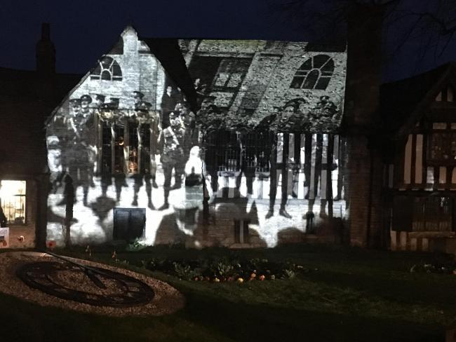 Photographs of Evesham's history are to be projected onto Almonry Museum