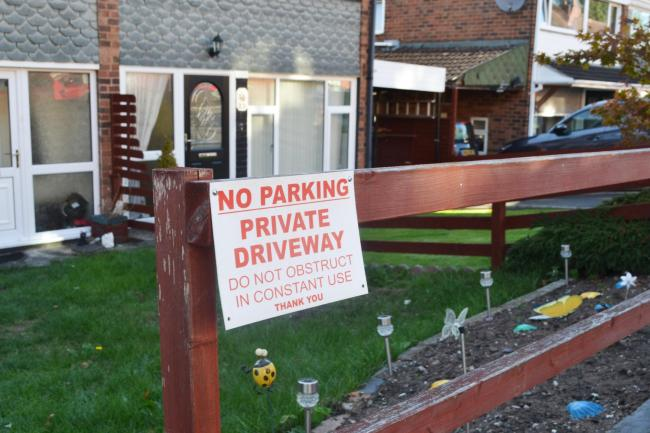 Neighbours in Brook Street are fed up of not being able to park on their own drives