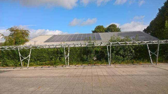 Solar panels have been installed. Photo: Herefordshire Council