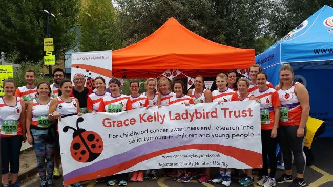 TEAM: The Grace Kelly team which took part in last year's Worcester City Run