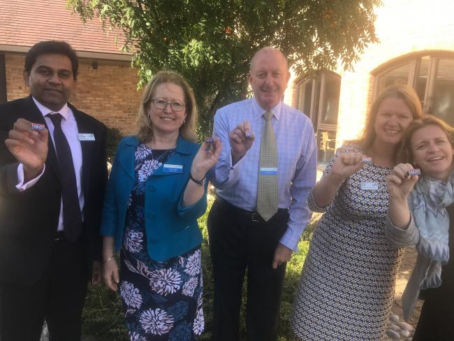 BADGE: John Devapriam, Sarah Dugan, Chris Burdon, Michelle Clarke and Sue Harris