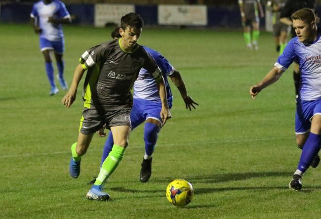 Action from halesowen's win at Barton. Photo by Steve Evans/Halesowen Town