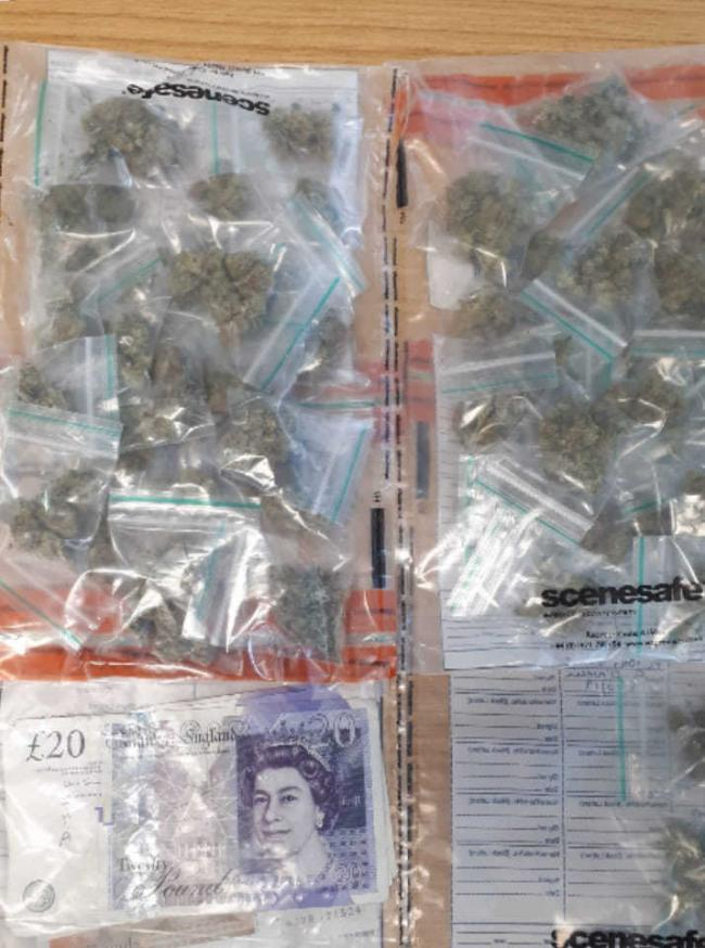 Cops executed a drugs warrant in Church Hill and found this