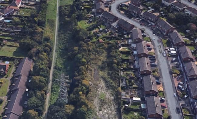 Overhead view of Cygnet Lane, Pensnett,  Brierley Hill. Credit: Google Maps.