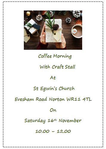 St Egwin's Church Coffee & Crafts Morning