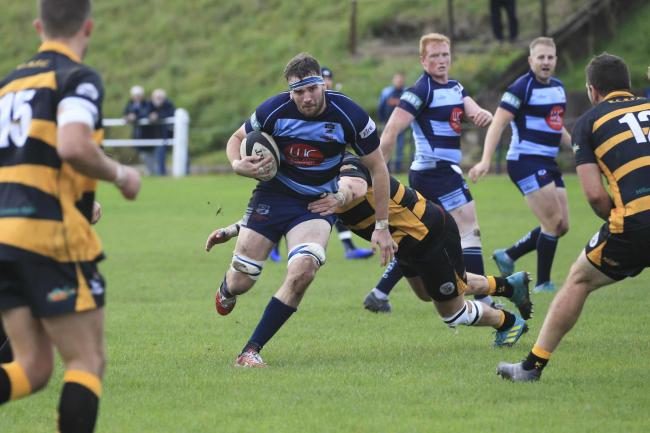 Dan Marsh on the charge against KCs. Photo: Ian Jackson