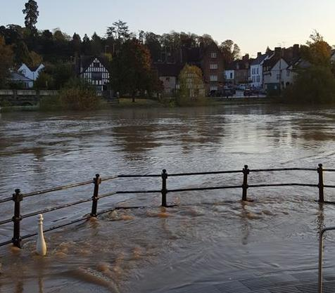 Flooding in Bewdley on October 28. PIC: Sue Edwards