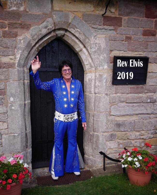 Return to sender: The Rev Elvis is leaving the building one last time...