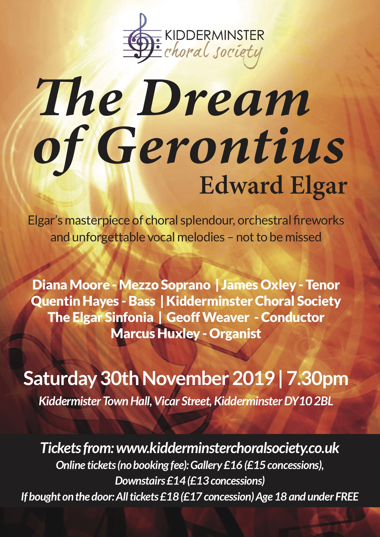 Kidderminster Choral Concert The Dream of Gerontius