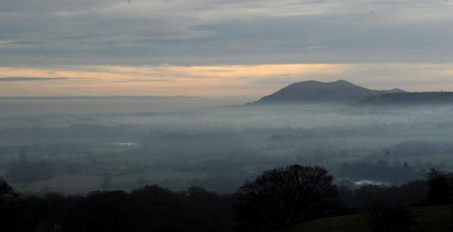 FOG: View of the Malvern Hills above the fog, covering the Worcestershire Countryside in 2017. Picture: Jonathan Barry