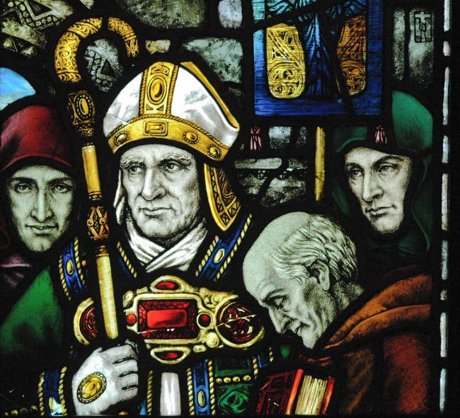 Saintly: Saint Patrick as depicted in County Cork, Ireland