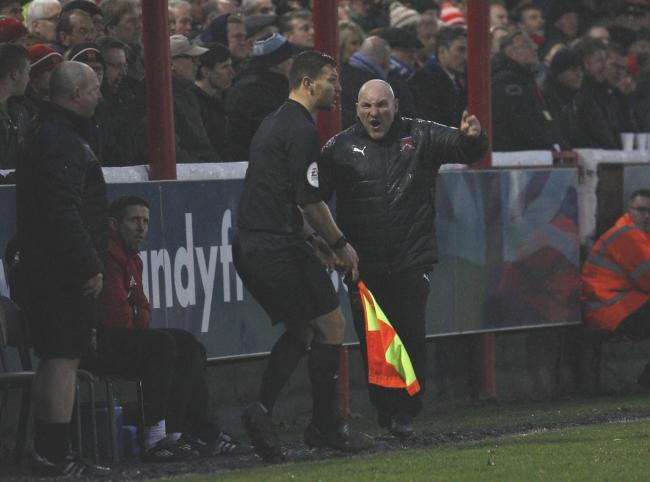 Ian Long berates the officials. Photo by Andrew Roper