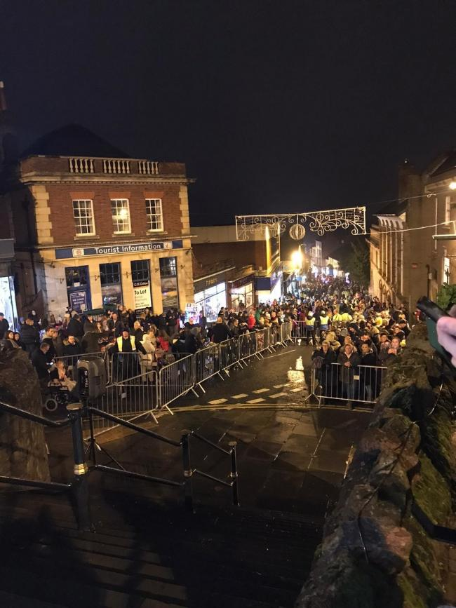 FESTIVAL: Crowds gathered in Malvern on Saturday for the Christmas Festival which included the annual parade, lights switch on and Santa's grotto. Photos: Lyndsey Davies