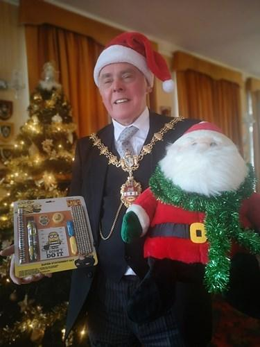 Councillor David Stanley, the Mayor of Dudley, is backing this year's Operation Santa appeal.