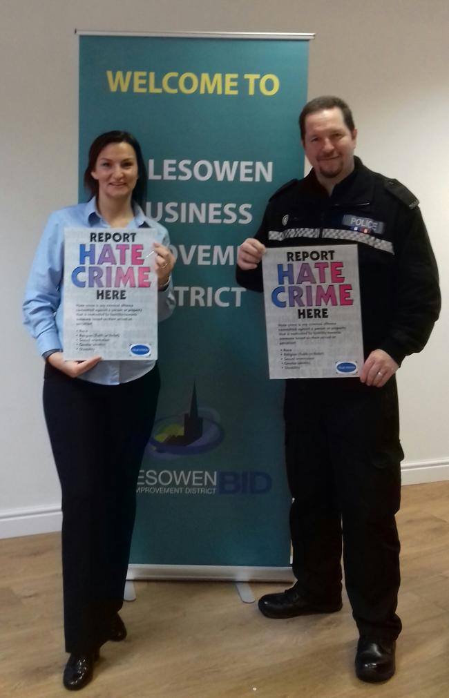 Pictured.. Vicky Rogers and PC Jon Edwards for Dudley Police Partnership Team.