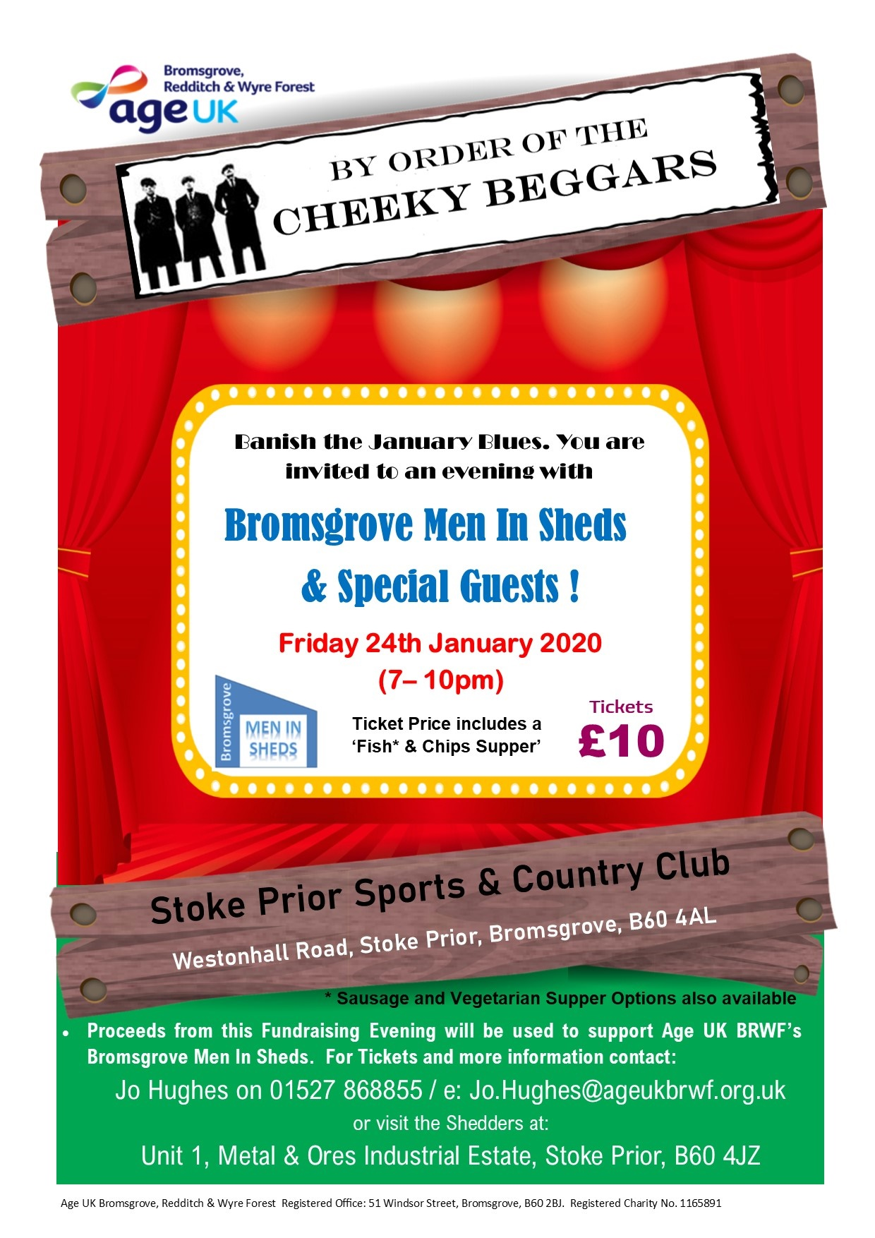 Banish the January Blues with an Evening with Bromsgrove Men In Sheds