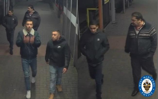 Police wish to speak to these men. Photo: West Midlands Police.