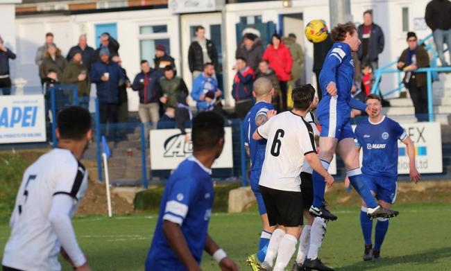 Action from Halesowen's 5-0 league win over Daventry on Saturday. Picture by Steve Evans