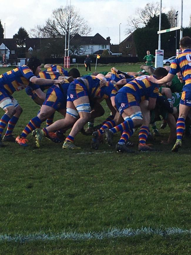 Action from Old Hales' narrow defeat on Saturday