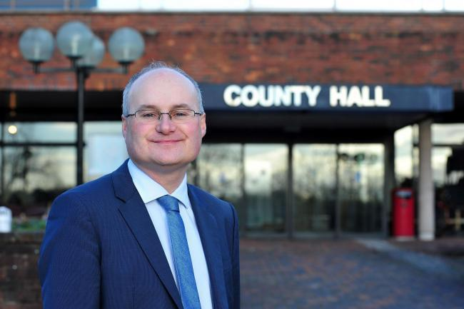 Councillor Simon Geraghty, leader of Worcestershire County Council. Photo Jonathan Barry
