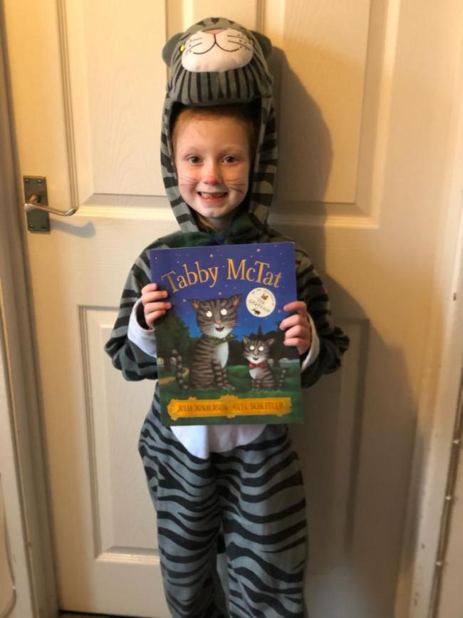 Sarah Williams aged 7- Tabby McTat by Julia Donaldson