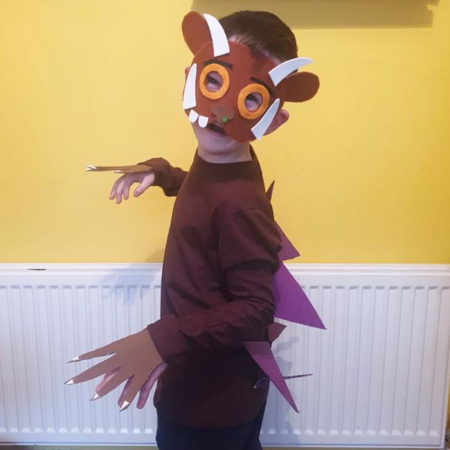 Noah, 5 and a half as The Gruffalo