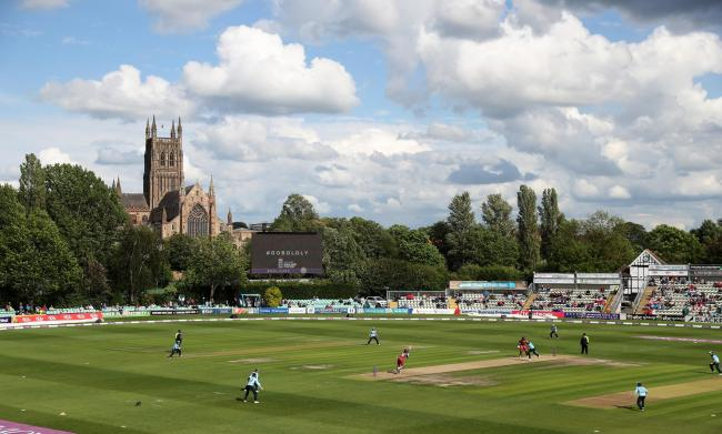 England take on the West Indies during the Women's One Day International match at Blackfinch New Road, Worcester..