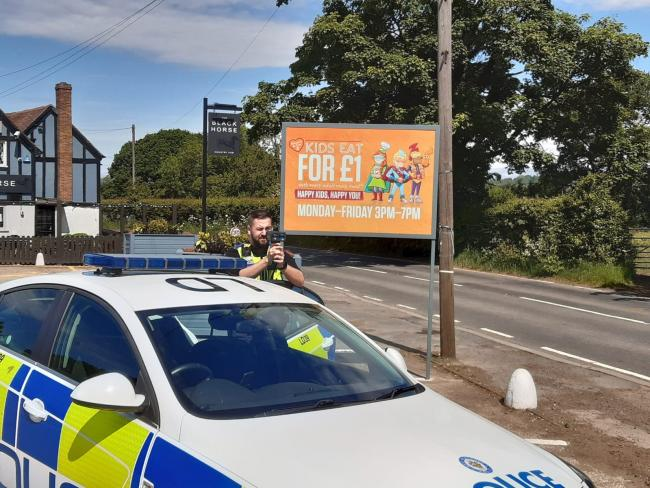 Officers have been carrying out speed checks. Pic: Halesowen police twitter