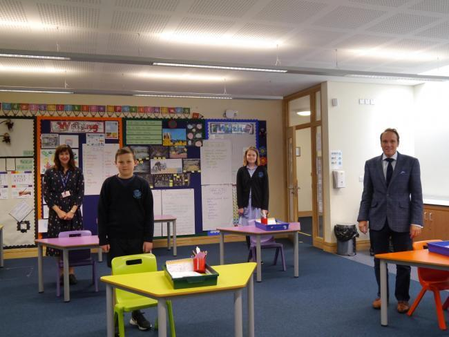 Councillor Marcus Hart visits Blakedown C of E Primary School