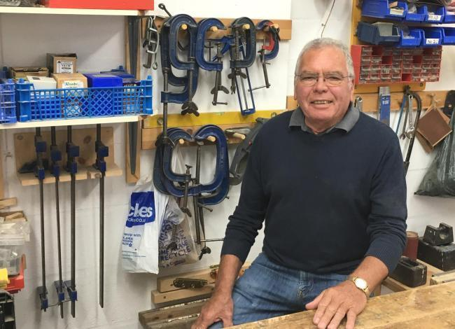Redditch Community Shed founder Roly Duke