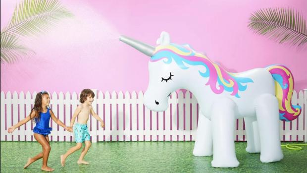 Halesowen News: This unicorn sprinkler looms above kids, but it's a good size for adults, too. Credit: Sun Squad