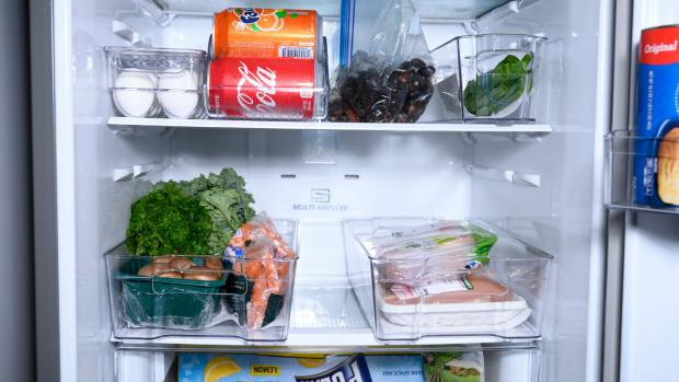 Halesowen News: Use an organising set to create more storage zones in your fridge. Credit: Reviewed / Betsey Goldwasser