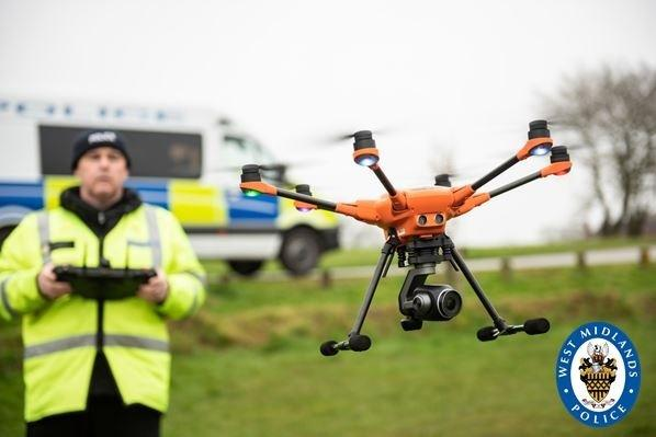 Drone technology has helped in the arrests of almost 100 people in West Midlands since October. Image: West Midlands Police.